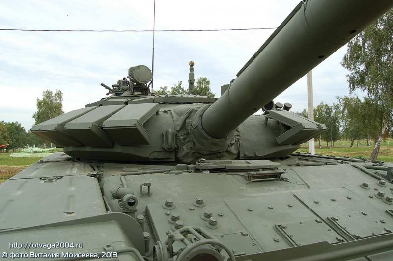 T-72B3 turret with Kontakt-5 ERA