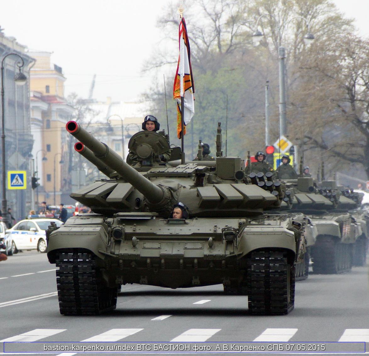 T-72B3 on parade