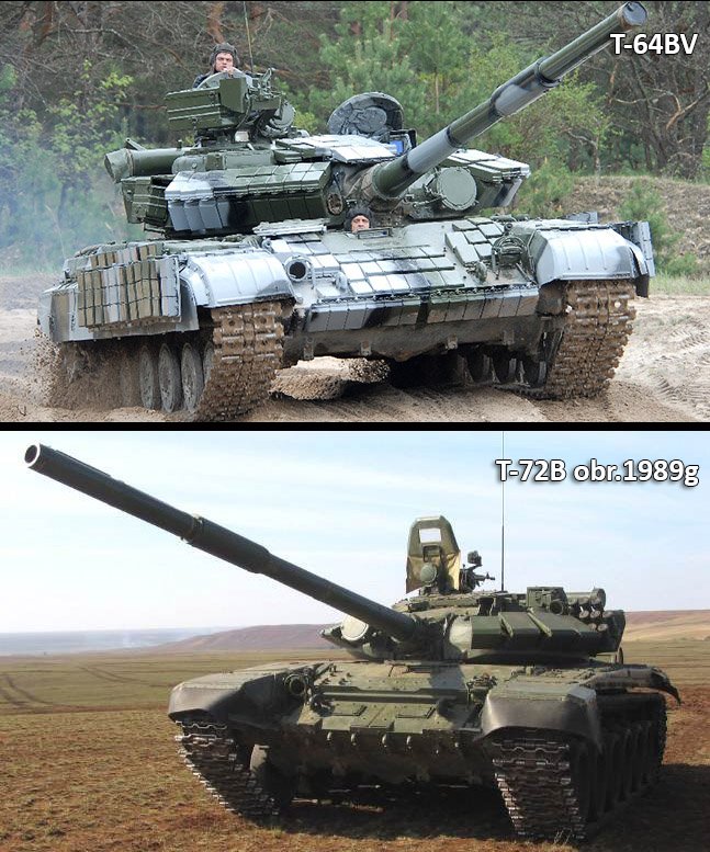 Two tanks commonly seen during the Ukraine conflict.