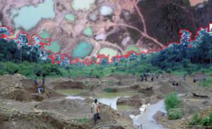 Наблюдение за разработкой месторождений в заповеднике Атева (Гана), где под угрозой могут оказаться водные ресурсы
