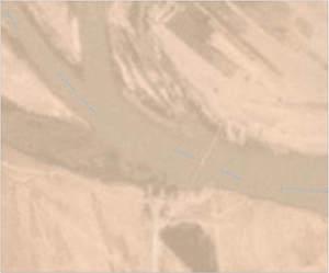 Новый мост, построенный россиянами через Евфрат, на спутниковых снимках Planet