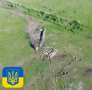 Съемка с воздуха проливает свет на бои на Донбассе