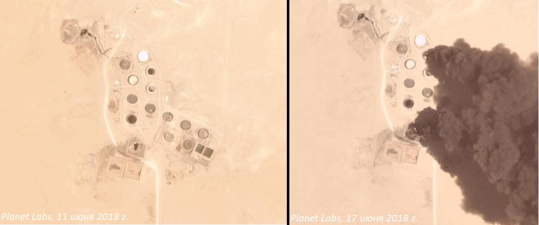 Масло в огонь: спутниковые камеры зафиксировали горящие нефтехранилища в Ливии