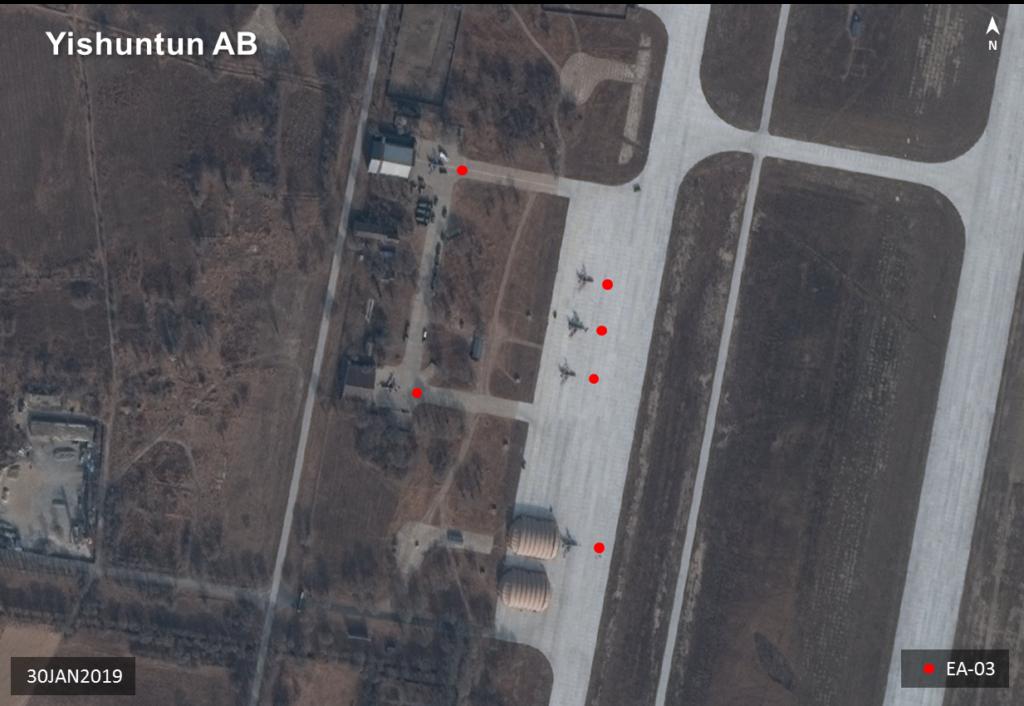 На китайскую авиабазу Ишуньтунь прибыли новые беспилотники EA-03